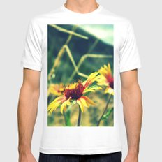 Flower in the Sun MEDIUM White Mens Fitted Tee