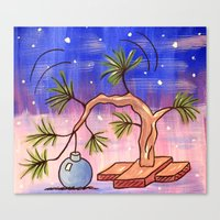 charlie brown Canvas Prints featuring Charlie Brown Christmas Tree by MSG Imaging
