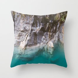 Blue Pools and the Makarora River on the West Coast of the South Island of New Zealand. Throw Pillow
