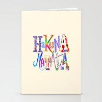 hakuna Stationery Cards featuring Hakuna Matata by Fimbis