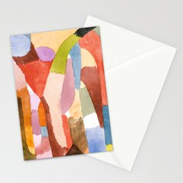 Movement of Vaulted Chambers by Paul Klee, 1915 Stationery Cards