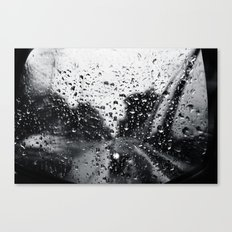 'Side View Rain' Canvas Print