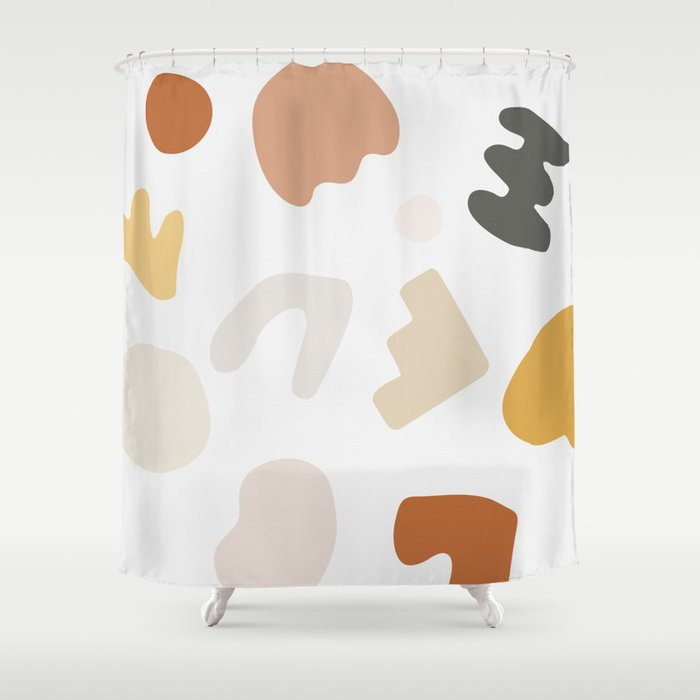 Abstract Shape Series - Autumn Color Study Shower Curtain