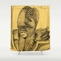 knight Shower Curtains featuring Knight by Red Drago