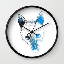 Flying fox face Wall Clock