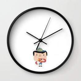 Ice Cream Please (Yellow Tales Series #2) Wall Clock