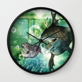 Hunter and hunted Wall Clock