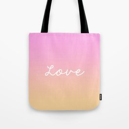 LOVE ABOVE ALL. Tote Bag