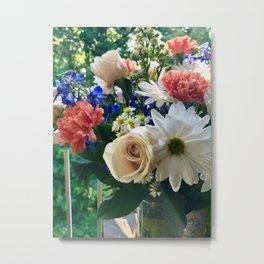 Sunlit Bouquet Metal Print
