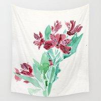 peru Wall Tapestries featuring Peru Lilies by Kate Havekost Fine Art