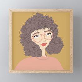 SALLY   Female Digital Illustration Framed Mini Art Print