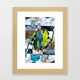 wine bottles abstract Framed Art Print
