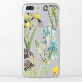 Vintage Floral Pattern | No. 2A | Iris Flowers | Irises Clear iPhone Case