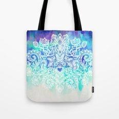 Indigo & Aqua Abstract - doodle painting Tote Bag