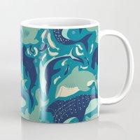sharks Mugs featuring Sharks by Dani Tea