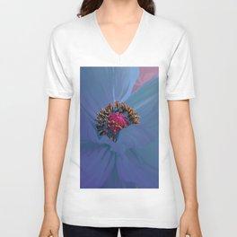 Afterglow, Vibrant, colorful poppy floral art Unisex V-Neck