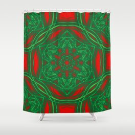 Kaleidoscopes of Christmas stars Shower Curtain