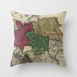 Map of Russia (1704) Throw Pillow