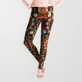 talavera mexican style pattern Leggings