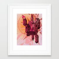 the lights Framed Art Prints featuring Lights by Manfish Inc.