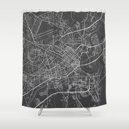 Ho Chi Minh City Map, Vietnam- Gray Shower Curtain