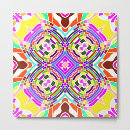 Modern Colorful abstract Pattern SB84 Metal Print