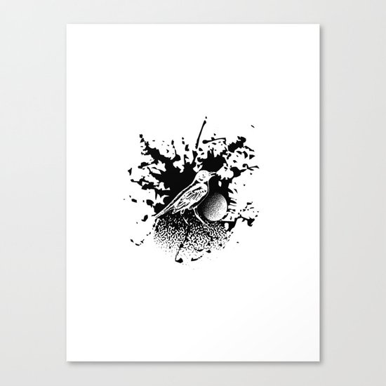 Bird Gard Canvas Print