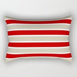 Stripes - red and tan  Rectangular Pillow