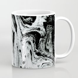 marble black and white minimal suminagashi japanese spilled ink abstract art Coffee Mug