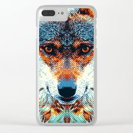 Wolf - Colorful Animals Clear iPhone Case