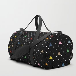 Pin Point Triangles Black Duffle Bag