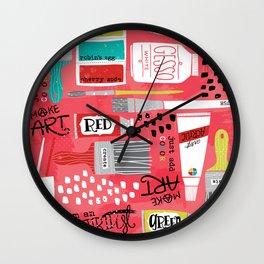 Love to Make Art! Wall Clock