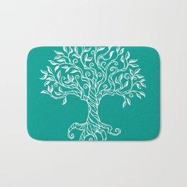 Tree of Life Teal Bath Mat