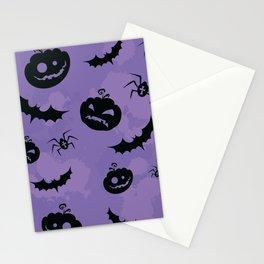 Pumpkin Bat print Stationery Cards
