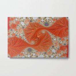 fractal art artwork pattern fractal Metal Print
