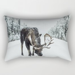 moose #society6 #decor #buyart Rectangular Pillow