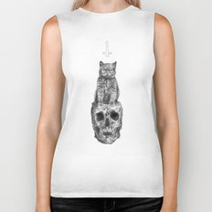 The Cat, The Skull, The Cross Biker Tank