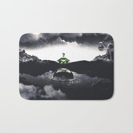 The Landing A Zebes Surrealism Bath Mat