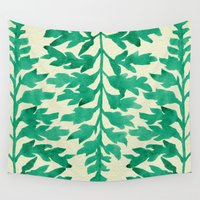 fern Wall Tapestries featuring Mint Fern by Cat Coquillette