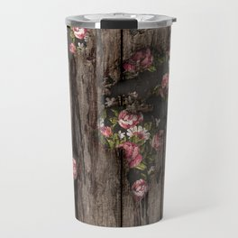 Wood Flowers Mapamundi Travel Mug