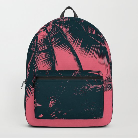 Pink palms in summer Backpack