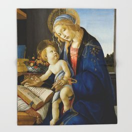 The Virgin and Child by Sandro Botticelli Throw Blanket