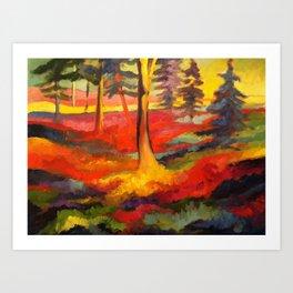 Vibrant Forest Art Print