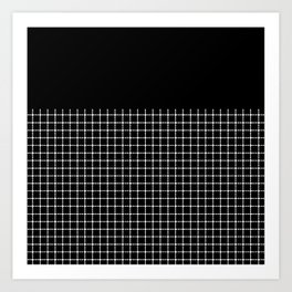 Dotted Grid Boarder Black Art Print