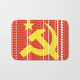 Owning Things Is Not A Job - Socialist Typography Bath Mat