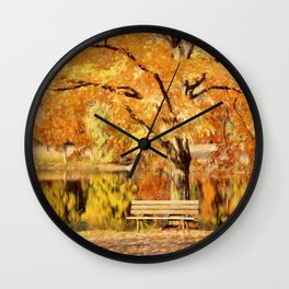 Autumn Solitude Wall Clock