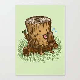 The Popsicle Log Canvas Print