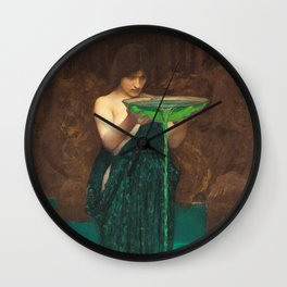 John William Waterhouse - Circe Invidiosa Wall Clock