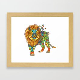 Lion, from the AlphaPod collection Framed Art Print