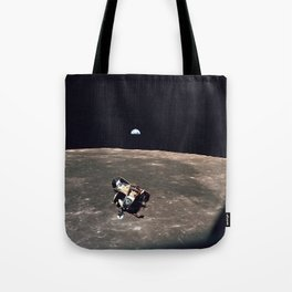 Apollo 11 Lunar Module Moon & Earth Tote Bag